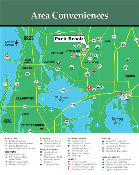 Parkbrook in Citrus Park - Tampa Bay Map